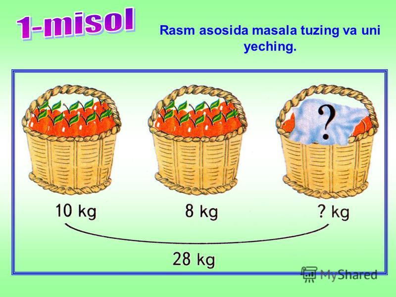 Rasm asosida masala tuzing va uni yeching.