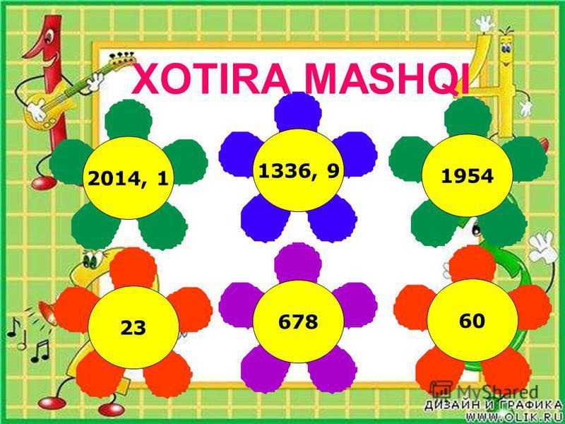 XOTIRA MASHQI 2014, 1 1336, 9 1954 60 678 23
