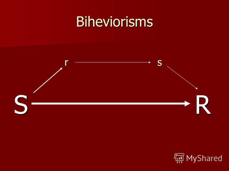 Biheviorisms r s r s S R