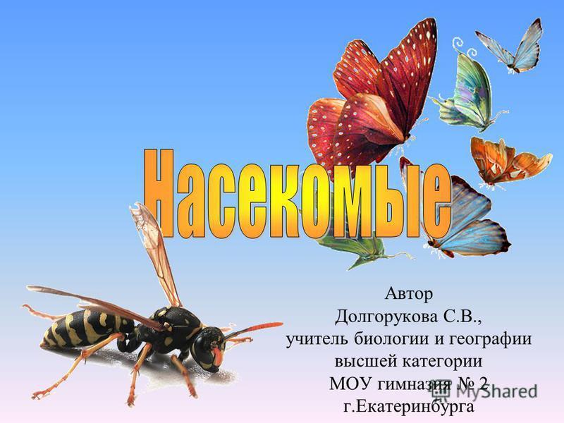 Автор Долгорукова С.В., учитель биологии и географии высшей категории МОУ гимназия 2 г.Екатеринбурга
