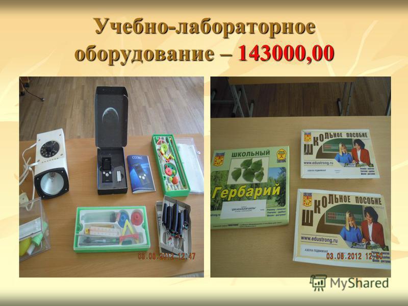 Учебно-лабораторное оборудование – 143000,00