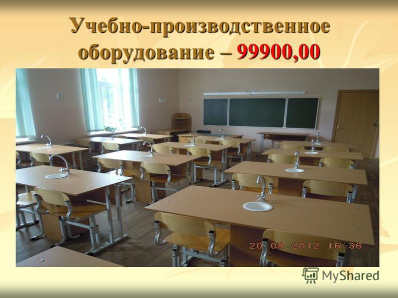 Учебно-производственное оборудование – 99900,00