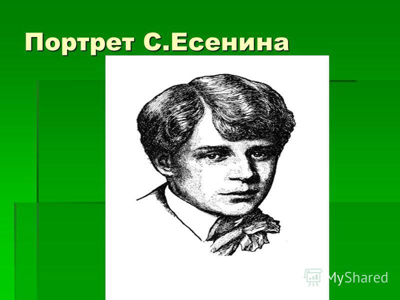 Портрет С.Есенина