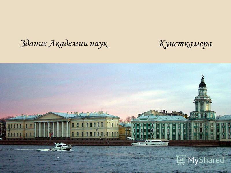 Здание Академии наук Кунсткамера
