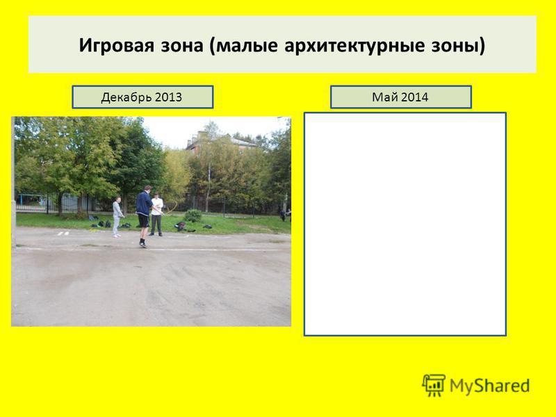 Игровая зона (малые архитектурные зоны) Декабрь 2013Май 2014