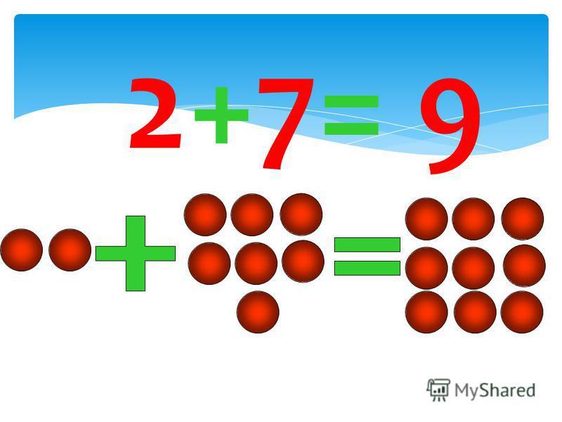2+7= 9