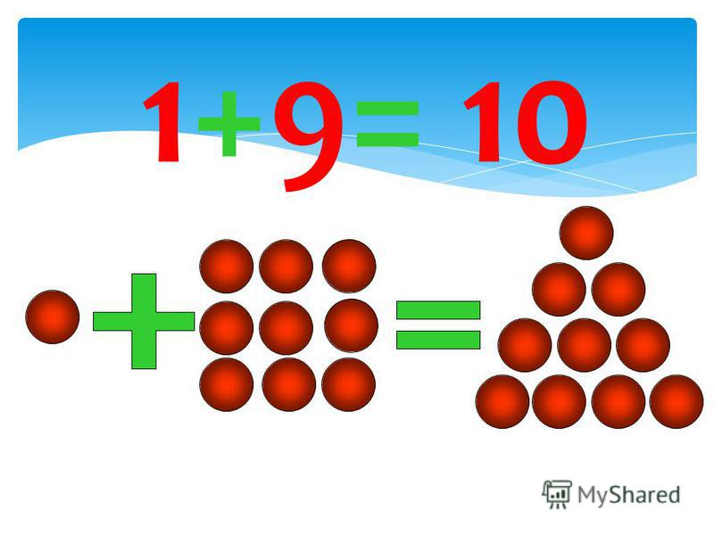 1+9= 10