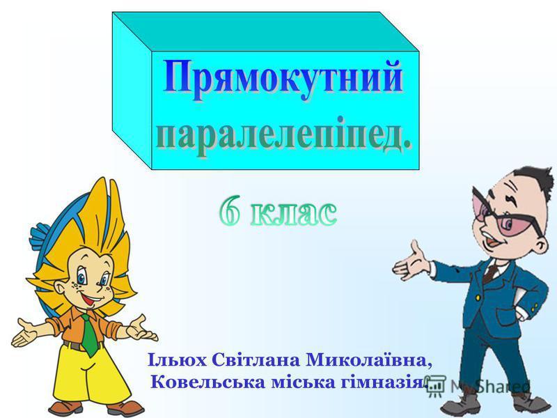 Ільюх Світлана Миколаївна, Ковельська міська гімназія.