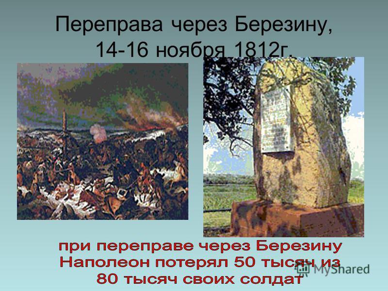 Переправа через Березину, 14-16 ноября 1812 г.