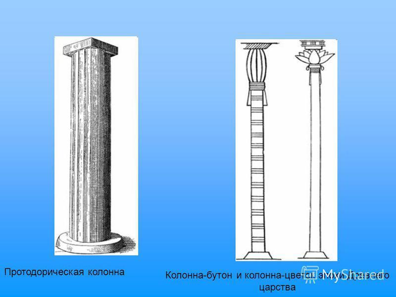 Протодорическая колонна Колонна-бутон и колонна-цветок эпохи Древнего царства