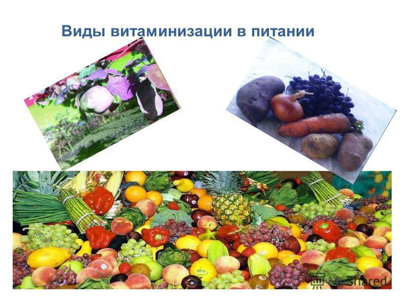 Виды витаминизации в питании