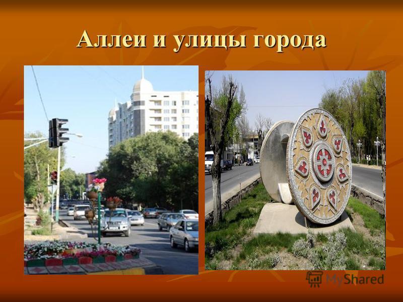Аллеи и улицы города