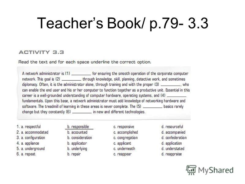 Teachers Book/ p.79- 3.3