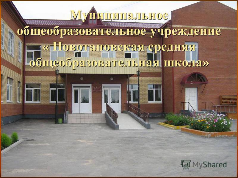 Муниципальное общеобразовательное учреждение « Новотаповская средняя общеобразовательная школа»