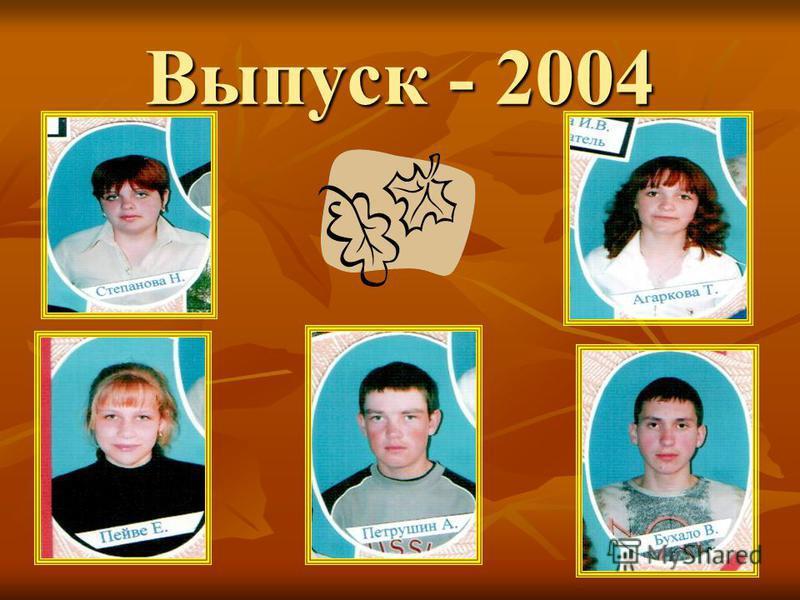 Выпуск - 2003