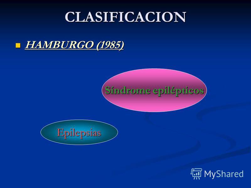 CLASIFICACION HAMBURGO (1985) HAMBURGO (1985) Síndrome epilépticos Epilepsias