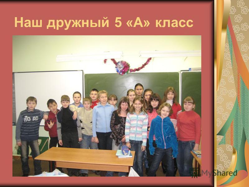 Наш дружный 5 «А» класс