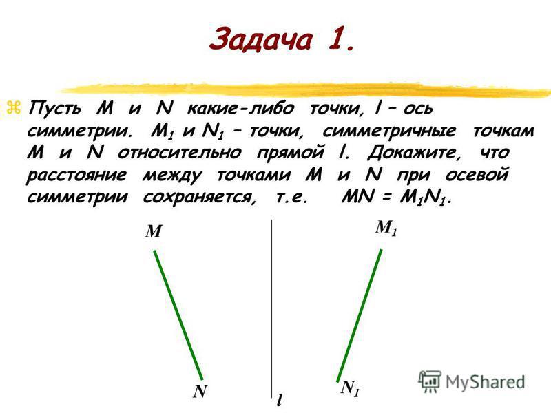 Найдите соответствия: Каждой точке плоскости ставится в соответствие какая-то точка этой же плоскости, причем любая точка плоскости оказывается сопоставленной некоторой точке. Говорят, что дано отображение плоскости на себя. (Осевая и центральная сим