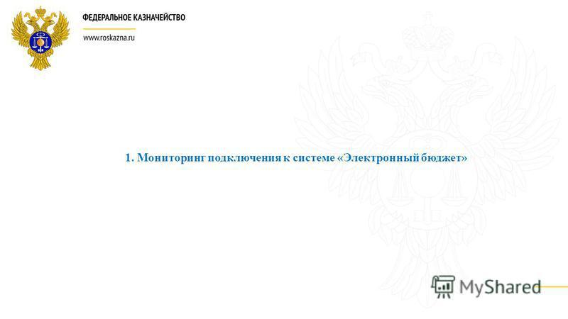 1. Мониторинг подключения к системе «Электронный бюджет»