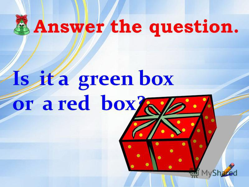 Answer the question. Is it a green box or a red box?