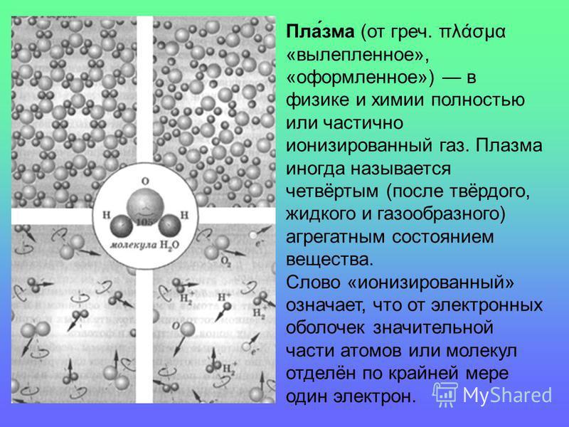Пла́зима (от греч. πλάσμα «вылепленное», «оформленное») в физике и химии полностью или частично ионизированный газ. Плазима иногда называется четвёртым (после твёрдого, жидкого и газообразного) агрегатным состоянием вещества. Слово «ионизированный» о