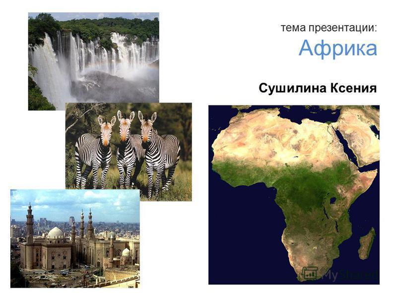 тема презентации: Африка Сушилина Ксения