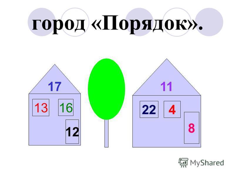город «Порядок». 12 13 16 17 224 8 11