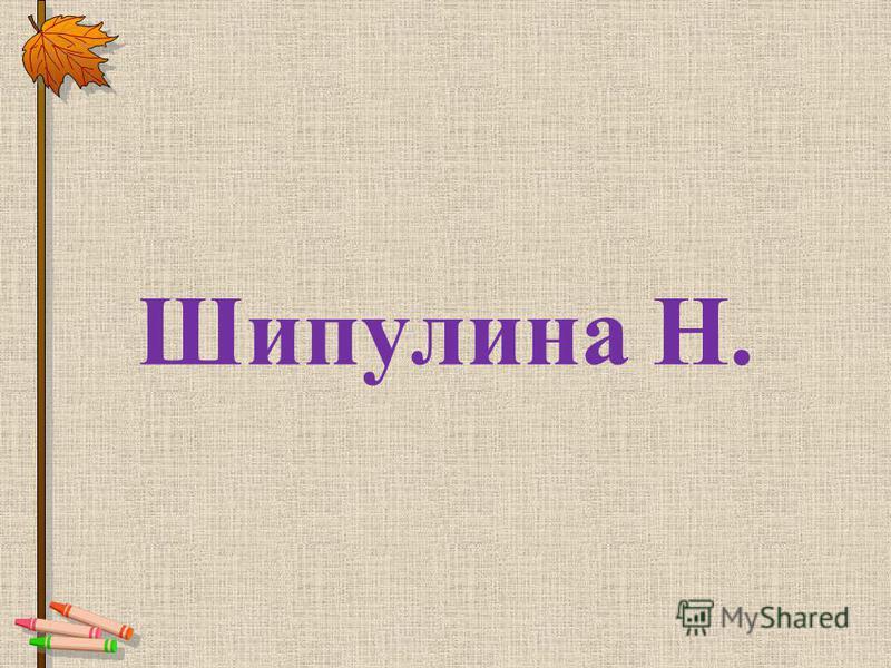 Шипулина Н.