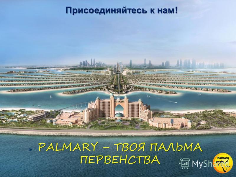 Присоединяйтесь к нам! PALMARY – ТВОЯ ПАЛЬМА ПЕРВЕНСТВА
