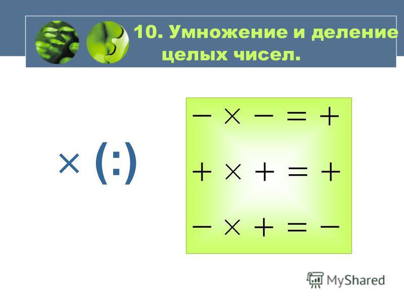 9. Сложение и вычитание целых чисел.