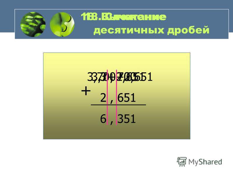 0,4 = 0,40 = 0,400 = … МОЖНО П РИПИСЫВАТЬ Н УЛИ Из двух десятичных дробей та больше, у … 18. Сравнение десятичных дробей.