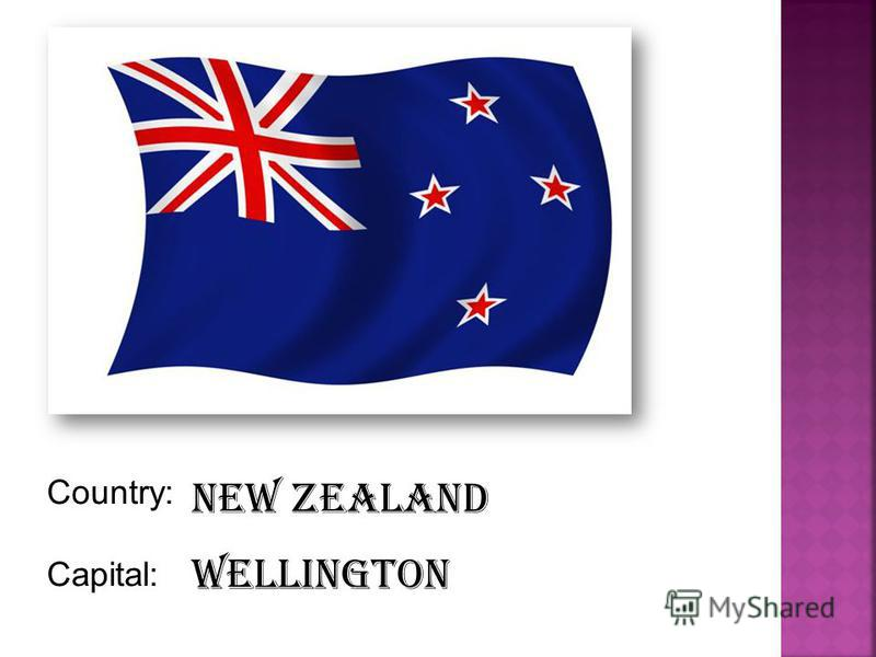 Country: Capital: New Zealand Wellington