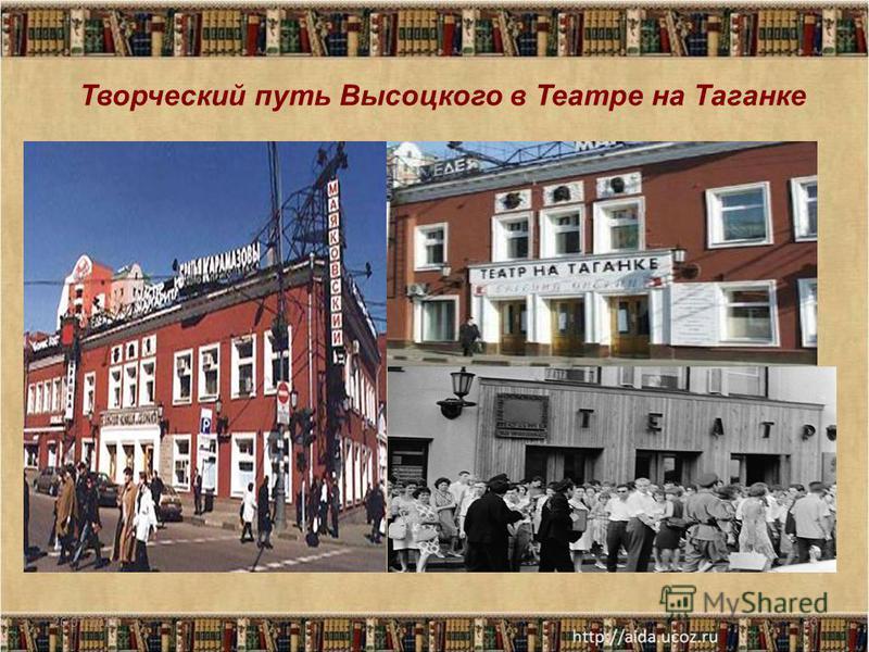 26.07.201510 Творческий путь Высоцкого в Театре на Таганке