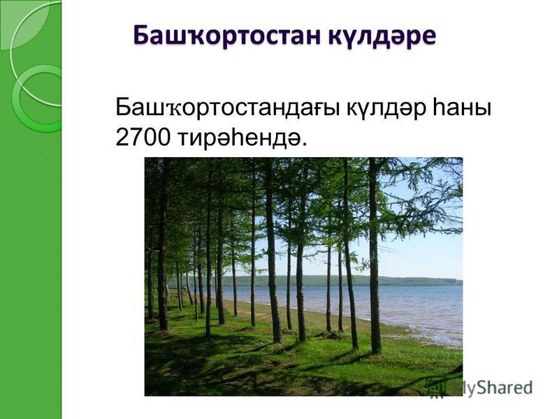 Башҡортостан күлдәре Баш ҡ ортостандағы күлдәр һаны 2700 тирәһендә.