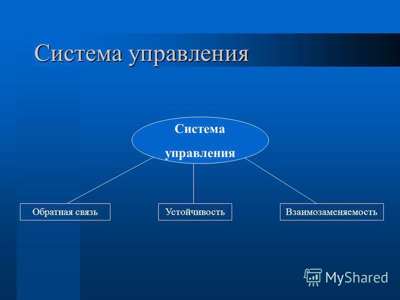 Система управления Система управления Устойчивость Обратная связь Взаимозаменяемость