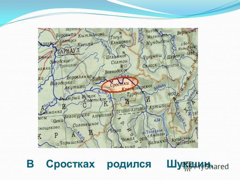 В Сростках родился Шукшин.