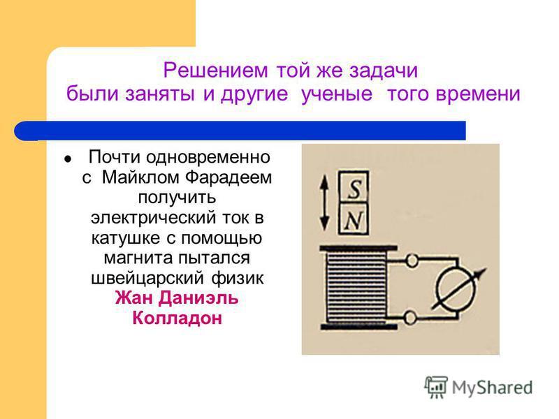 1821 год… Майкл Фарадей ставит задачу: ПРЕВРАТИТЬ МАГНЕТИЗМ В ЭЛЕКТРИЧЕСТВО