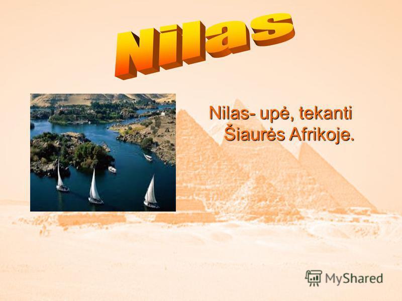 Nilas- upė, tekanti Šiaurės Afrikoje.