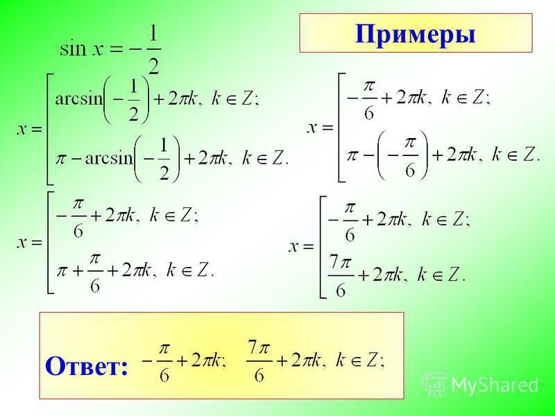 Примеры Ответ: