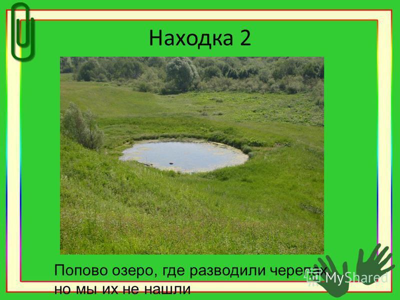 Находка 2 Попово озеро, где разводили черепах, но мы их не нашли