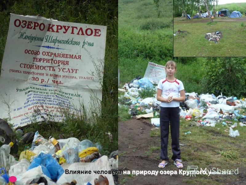 Влияние человека на природу озера Круглого, июнь 2012