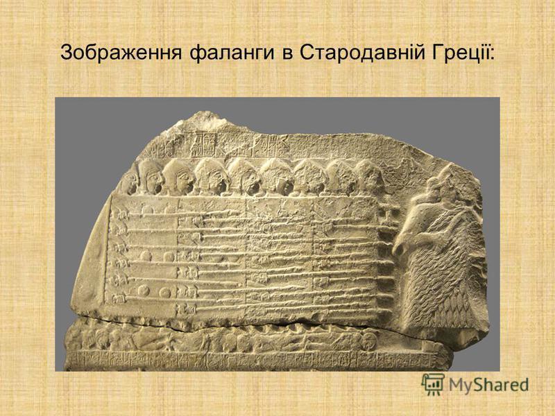 Зображення фаланги в Стародавній Греції:
