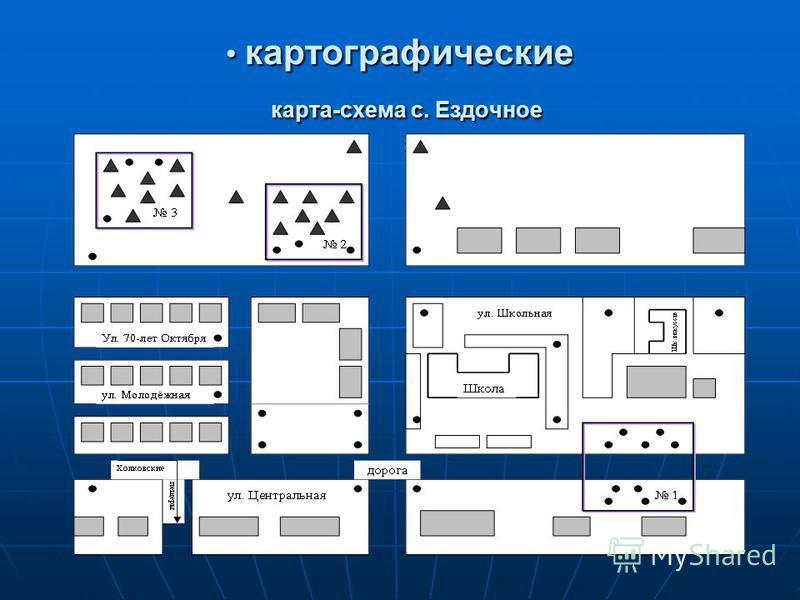 картографические карта-схема с. Ездочное картографические карта-схема с. Ездочное