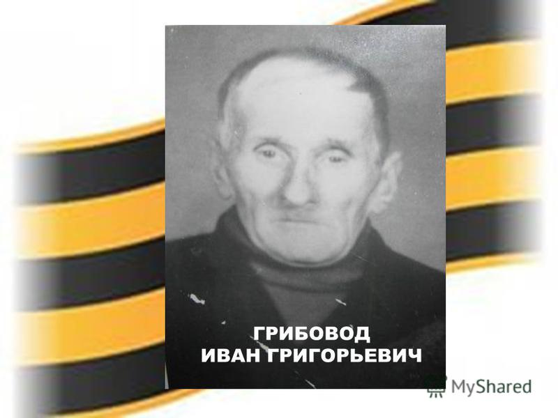 ГРИБОВОД ИВАН ГРИГОРЬЕВИЧ