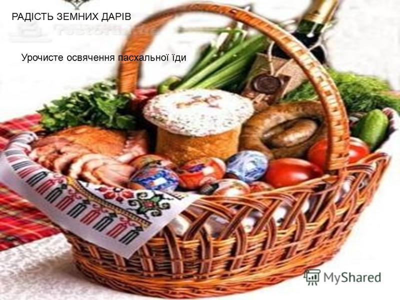 Урочисте освячення пасхальної їди РАДІСТЬ ЗЕМНИХ ДАРІВ