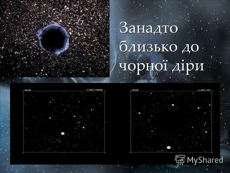Занадто близько до чорної діри