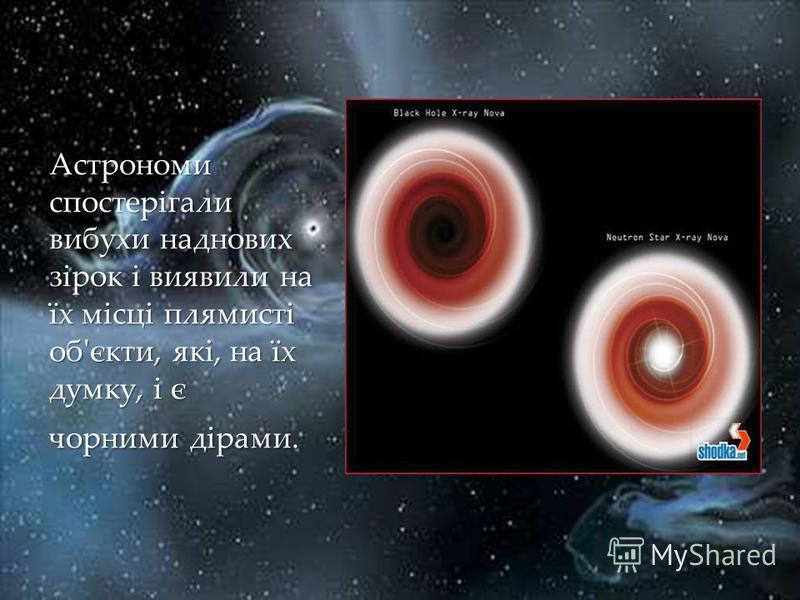 Астрономи спостерігали вибухи наднових зірок і виявили на їх місці плямисті об'єкти, які, на їх думку, і є чорними дірами.