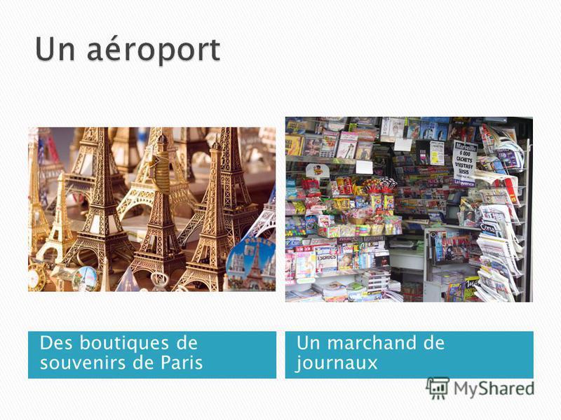 Des boutiques de souvenirs de Paris Un marchand de journaux