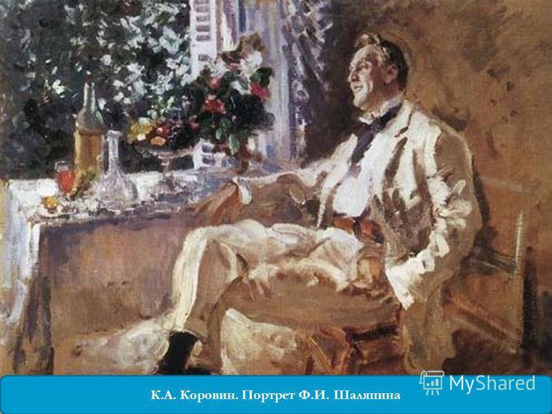 К.А. Коровин. Портрет Ф.И. Шаляпина