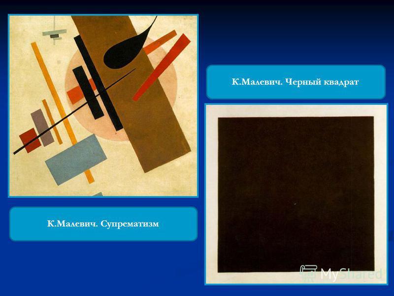 К.Малевич. Супрематизм К.Малевич. Черный квадрат